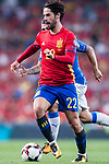 Isco (R) of Spain in action during their 2018 FIFA World Cup Russia Final Qualification Round 1 Group G match between Spain and Italy on 02 September 2017, at Santiago Bernabeu Stadium, in Madrid, Spain. Photo by Diego Gonzalez / Power Sport Images