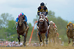 Baltimore, MD- May 18: Oxbow ridden by hall a fame jockey Gary Stevens upsets Kentucky Derby Winner to win the 138th Preakness at Pimlico Race Course in Baltimore, MD on 05/18/13. (Ryan Lasek/ Eclipse Sportswire)