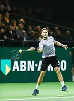 Rotterdam, The Netherlands, 11 Februari 2019, ABNAMRO World Tennis Tournament, Ahoy, Press Conference, first round singles: Stan Wawrinka (SUI),<br /> Photo: www.tennisimages.com/Henk Koster