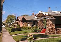 Alameda CA: California Bungalows, c. 1915. 1300 block Burbank St. Photo '78.