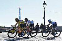 18th July 2021; Paris, France;  POGACAR Tadej (SLO) of UAE TEAM EMIRATES at the Eiffel Tower during stage 21 of the 108th edition of the 2021 Tour de France cycling race, the stage of 108,4 kms between Chatou and finish at the Champs Elysees in Paris.