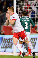 Harrison, NJ - Tuesday April 10, 2018: Tim Parker during leg two of a  CONCACAF Champions League semi-final match between the New York Red Bulls and C. D. Guadalajara at Red Bull Arena. C. D. Guadalajara defeated the New York Red Bulls 0-0 (1-0 on aggregate).