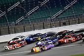 #12: Ryan Blaney, Team Penske, DEX Imaging Ford Mustang and #18: Kyle Busch, Joe Gibbs Racing, M&M's Fudge Brownie Toyota Camry