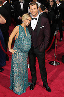 HOLLYWOOD, CA, USA - MARCH 02: Elsa Pataky, Chris Hemsworth at the 86th Annual Academy Awards held at Dolby Theatre on March 2, 2014 in Hollywood, Los Angeles, California, United States. (Photo by Xavier Collin/Celebrity Monitor)