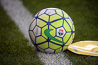 Kansas City, Kansas - Saturday April 16, 2016: A soccer ball on the pitch before the game between FC Kansas City and Western New York Flash at Children's Mercy Park. Western New York won 1-0.