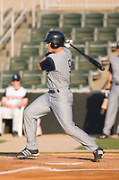 Roman Pena (9) of the Lake County Captains follows through on his swing at Fieldcrest Cannon Stadium in Kannapolis, NC, Wednesday July 2, 2008. (Photo by Brian Westerholt / Four Seam Images)