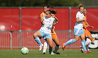 Sky Blue midfielder Yael Averbuch defends counterpart Brittany Klein of the Red Stars. Sky Blue defeated the Chicago Red Stars 1-0 on Sunday, July 19, 2009.