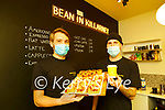 Luke Burgis and Joey Boland in their new Coffee cafe Bean in Killarney which opened last week