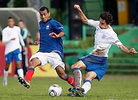 Soccer, UEFA U-17.France Vs. England.Abdallah Yaisien, left and Adam Jackson.Indjija, 03.05.2011..foto: Srdjan Stevanovic