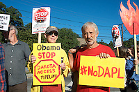 Rally to Stop the Dakota Access Pipeline in solidarity with Standing Rock Sioux in North Dakota  at the construction site of the Spectra West Roxbury Lateral  Gas Pipeline in West Roxbury Massachusetts 9.13.16 One of over 100 actions nationwide.
