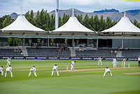 NZ's Tim Southee bowls during day four of the second International Test Cricket match between the New Zealand Black Caps and Pakistan at Hagley Oval in Christchurch, New Zealand on Wednesday, 6 January 2021. Photo: Dave Lintott / lintottphoto.co.nz