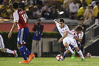 Pasadena, CA - Tuesday June 07, 2016: Colombia midfielder Guillermo Celis (5) during a Copa America Centenario Group A match between Colombia (COL) and Paraguay (PAR) at Rose Bowl Stadium.