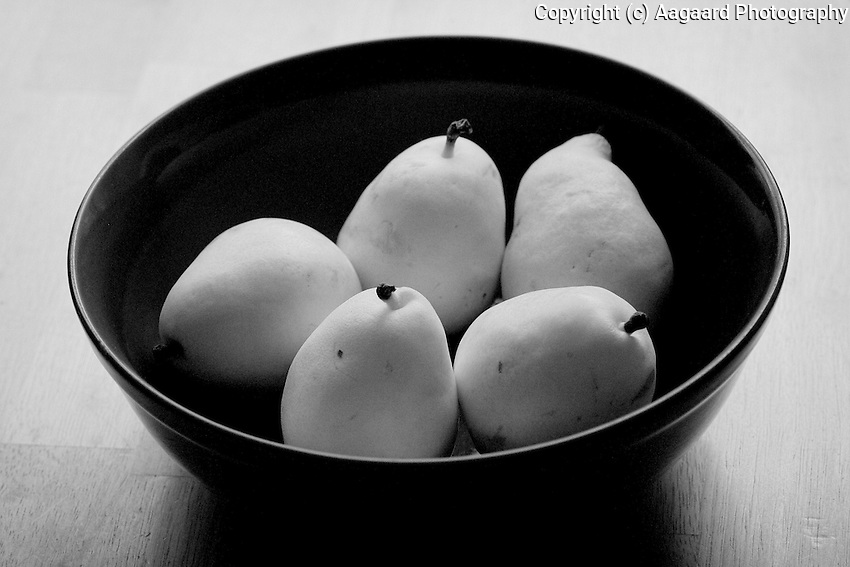 Infrared pears.<br /> <br /> Canon EOS 5D, Tokina 100mm macro lens, infrared filter.<br /> <br /> While lacking the unearthly glow of Kodak infrared film, I thought this was still pretty interesting.