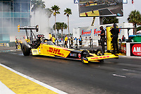27th September 2020, Gainsville, Florida, USA;  Top Fuel driver Shawn Langdon (333)  DHL during the 51st annual Amalie Motor Oil NHRA Gatornationals