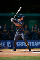 Cody Schrier (2) during the WWBA World Championship at Terry Park on October 8, 2020 in Fort Myers, Florida.  Cody Schrier, a resident of San Clemente, California who attends JSerra Catholic High School, is committed to UCLA.  (Mike Janes/Four Seam Images)