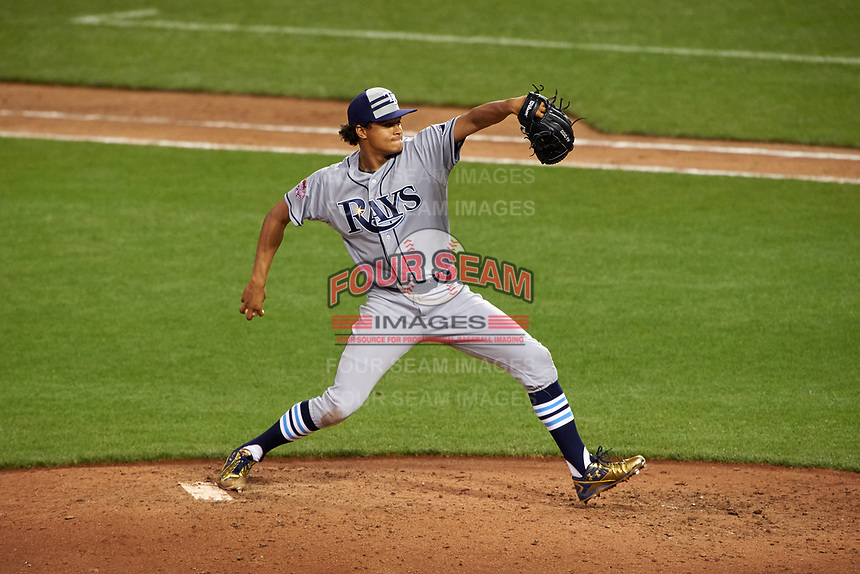 Tampa Bay Rays pitcher Chris Archer during the MLB All-Star Game on July 14, 2015 at Great American Ball Park in Cincinnati, Ohio.  (Mike Janes/Four Seam Images)