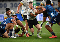 3rd April 2021; Eden Park, Auckland, New Zealand;  Hurricanes halfback Luke Campbell.<br /> Blues v Hurricanes Super Rugby Aotearoa. Eden Park, Auckland. New Zealand.