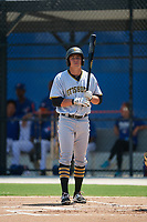 GCL Pirates first baseman Mason Martin (22) at bat during a game against the GCL Blue Jays on July 20, 2017 at Bobby Mattick Training Center at Englebert Complex in Dunedin, Florida.  GCL Pirates defeated the GCL Blue Jays 11-6 in eleven innings.  (Mike Janes/Four Seam Images)