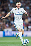 Toni Kroos of Real Madrid in action during their 2016-17 UEFA Champions League Semifinals 1st leg match between Real Madrid and Atletico de Madrid at the Estadio Santiago Bernabeu on 02 May 2017 in Madrid, Spain. Photo by Diego Gonzalez Souto / Power Sport Images