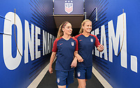 Sandy, Utah - Thursday June 07, 2018: Meghan Klingenberg, Lindsey Horan during an international friendly match between the women's national teams of the United States (USA) and China PR (CHN) at Rio Tinto Stadium.