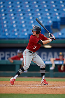Zach Martin (11) of Middletown High School in Middletown, MD during the Perfect Game National Showcase at Hoover Metropolitan Stadium on June 18, 2020 in Hoover, Alabama. (Mike Janes/Four Seam Images)