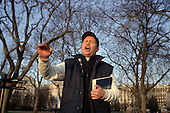 A born again evangelical Christian preacher at Speakers' Corner, Hyde Park, London.