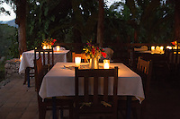 The dining room at Hacienda San Lucas, Ruinas Copan, western Honduras