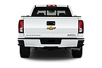 Straight rear view of 2018 Chevrolet Silverado-1500 High-Country-Crew 4 Door Pickup Rear View  stock images