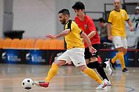 Kareem Osman of Capital during the Men's Futsal SuperLeague, Canterbury United Futsal Dragons v Capital Futsal at ASB Sports Centre, Wellington on Saturday 31 October 2020.<br /> Copyright photo: Masanori Udagawa /  www.photosp ort.nz
