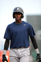 Staten Island Yankees infielder Jamiel Orozco (2) during game against the Brooklyn Cyclones at MCU Park on June 18, 2012 in Brooklyn, NY.  Brooklyn defeated Staten Island 2-0.  Tomasso DeRosa/Four Seam Images