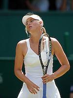 24-6-09, England, London, Wimbledon, Maria Sharapova   verliest in de tweede ronde