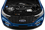 Car Stock 2020 Ford Explorer ST 5 Door SUV Engine  high angle detail view