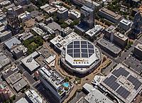aerial photograph of the Golden 1 Center, Sacramento, California