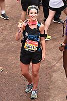 Helen Skelton<br /> at the finish of the London Marathon 2019, Greenwich, London<br /> <br /> ©Ash Knotek  D3496  28/04/2019