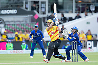 Natalie Sciver, Trent Rockets goes big over long off for a maximum during London Spirit Women vs Trent Rockets Women, The Hundred Cricket at Lord's Cricket Ground on 29th July 2021