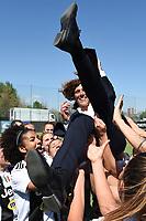 Rita Guarino.  Celebration at the end of the match <br /> Verona 20-4-2019 Stadio AGSM Olivieri <br /> Football Women Serie A Hellas Verona - Juventus <br /> Juventus win italian championship <br /> Photo Daniele Buffa / Image Sport / Insidefoto