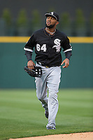 Chicago White Sox center fielder Emilio Bonifacio (64) jogs off the field between innings of the exhibition game against the Charlotte Knights at BB&T Ballpark on April 3, 2015 in Charlotte, North Carolina.  The Knights defeated the White Sox 10-2.  (Brian Westerholt/Four Seam Images)