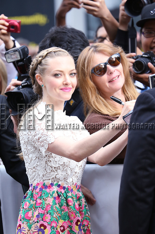 Amanda Seyfried attending the 'While We're Young' red carpet arrivals during the 2014 Toronto International Film Festival at the Princess of Wales Theatre on September 6, 2014 in Toronto, Canada.