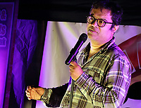 Paul Sinha performs a live outside socially distanced stand up comedy night at the Rufus Centre, Flitwick, Bedfordshire on Saturday 12th September 2020<br /> <br /> Photo by Keith Mayhew