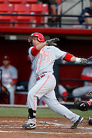 D.J. Peterson of the New Mexico Lobos bats against the San Diego State Aztecs at Tony Gwynn Stadium on May 16, 2013 in San Diego, California. New Mexico defeated San Diego State, 14-6. (Larry Goren/Four Seam Images)