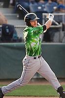 Eugene Emeralds catcher Tyler Alamo (5) at bat during a game against the Everett Aquasox at Everett Memorial Stadium in Everett, Washington.  Eugene defeated Everett 7-5. (Ronnie Allen/Four Seam Images)