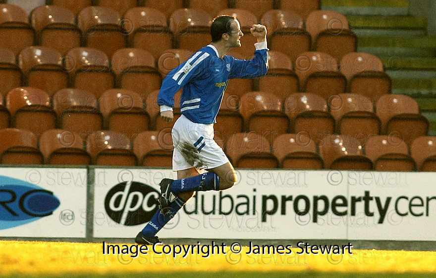 14/01/2006         Copyright Pic: James Stewart.File Name : sct_jspa03_clyde_v_stjohnstone.PAUL SHEERIN CELEBRATES AFTER HE SCORES ST JOHNSTONE'S FIRST FROM THE PENALTY SPOT....Payments to :.James Stewart Photo Agency 19 Carronlea Drive, Falkirk. FK2 8DN      Vat Reg No. 607 6932 25.Office     : +44 (0)1324 570906     .Mobile   : +44 (0)7721 416997.Fax         : +44 (0)1324 570906.E-mail  :  jim@jspa.co.uk.If you require further information then contact Jim Stewart on any of the numbers above.........