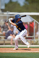Kyle Westfall during the WWBA World Championship at the Roger Dean Complex on October 18, 2018 in Jupiter, Florida.  Kyle Westfall is an outfielder from Mason, Ohio who attends IMG Academy and is committed to Texas Tech.  (Mike Janes/Four Seam Images)