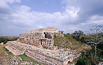 Palace of the masks of the god chaac, Kabah, Mexico, Central America