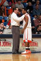 SAN ANTONIO, TX - FEBRUARY 17, 2007: The Texas State University Bobcats vs. The University of Texas at San Antonio Roadrunners Men's Basketball at the UTSA Convocation Center. (Photo by Jeff Huehn)