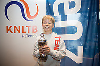 Hilversum, Netherlands, December 3, 2017, Winter Youth Circuit Masters, 12,14,and 16 years, 3 th place boys  12 years Pieter de Lange<br /> Photo: Tennisimages/Henk Koster