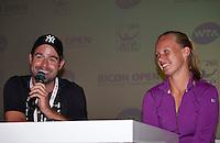 Den Bosch, Netherlands, 07 June, 2016, Tennis, Ricoh Open, Press conference Kiki Bertens and her coach Raemon Sluiter<br /> Photo: Henk Koster/tennisimages.com