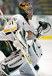 """5 January 2007: University of Vermont goaltender Mike Spillane (31) from Bow, NH, in action against the University of New Hampshire Wildcats at Gutterson Fieldhouse in Burlington, Vermont. The UNH Wildcats defeated the UVM Catamounts 7-1 in front of a record setting 48th consecutive sellout at """"the Gut""""...Mandatory Photo Credit: Ed Wolfstein Photo.<br />"""