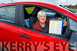 Margaret Kelly from Farrenfore all ready for the Drive in Bingo in John Mitchels on Sunday.