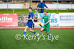 Kerry's Cian Brosnan slips past Sam Morrissey of Waterford Fc in the EA Sports U19 League of Ireland